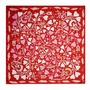 Cacharel Silk scarf Fairy Garden red