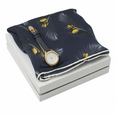 Picture of Cacharel Set Cacharel Navy (watch & silk