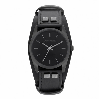 Picture of Zadig & Voltaire Watch Fusion Black Leat