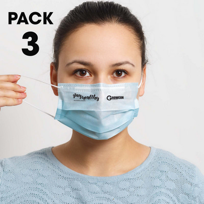 Picture of 3 Pack - Disposable Face Masks