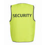 JBs Hv Safety Vest Print Security