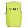 JBs Hv Safety Vest Print Staff