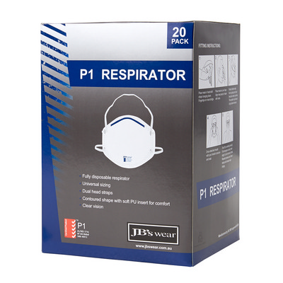 Picture of JB's P1 Respirator (20Pc)