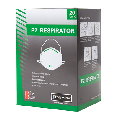 Picture of JB's P2 Respirator (20Pc)