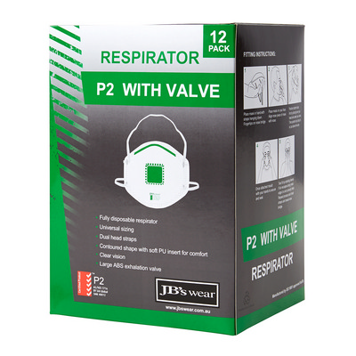 Picture of JB's P2 Respirator With Valve (12Pc)