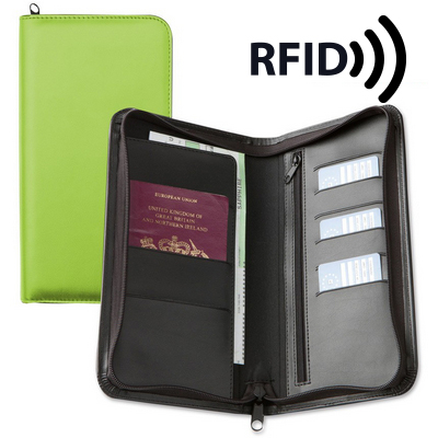 Picture of Deluxe Zipped Travel Wallet with RFID Pr