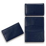 Premium Dark Blue Leather Card Holder (E