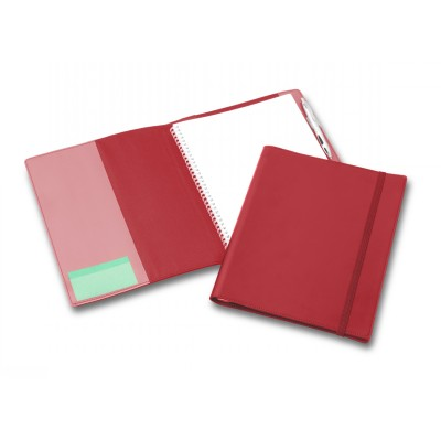 Picture of Deluxe Red Elastic Closure A4 Refillable