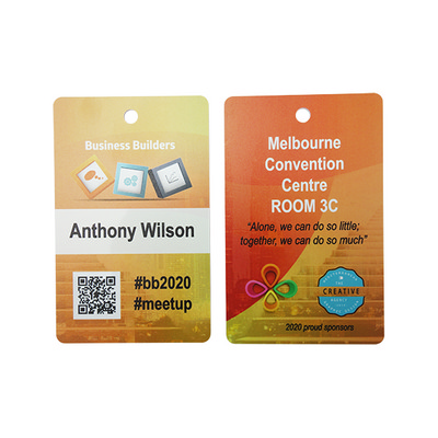 Picture of Thick ABS Plastic Small Name Tag Matt wi