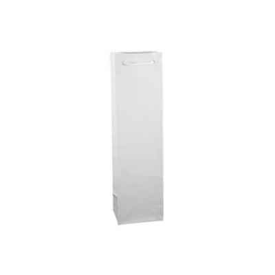 Picture of Wine White Gloss Laminated Paper Bag