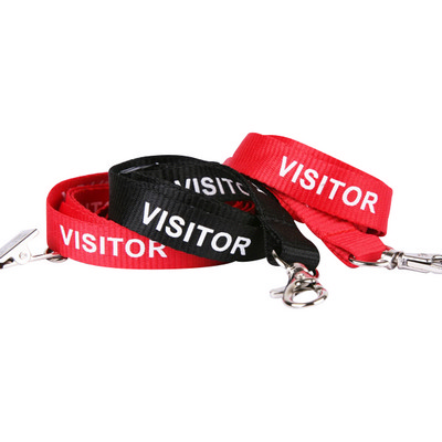 Picture of Lanyard Stock Title Visitor with Alligat
