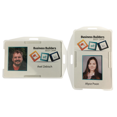 Picture of Rigid Clear Double Sided Security ID car
