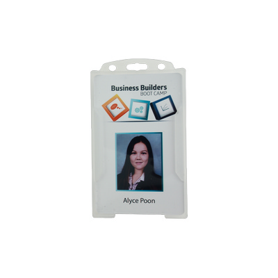 Picture of Rigid Clear Security ID card holder -Por