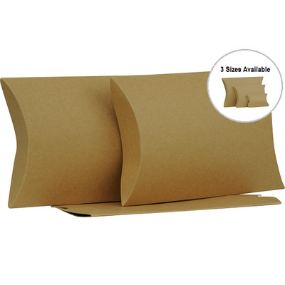 Picture of Large Brown Kraft Pillow Box Printed