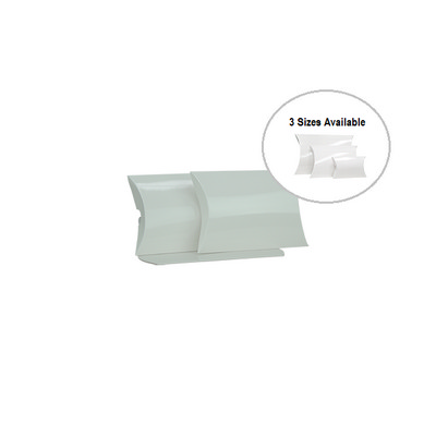 Picture of Small White Gloss Pillow Box Printed