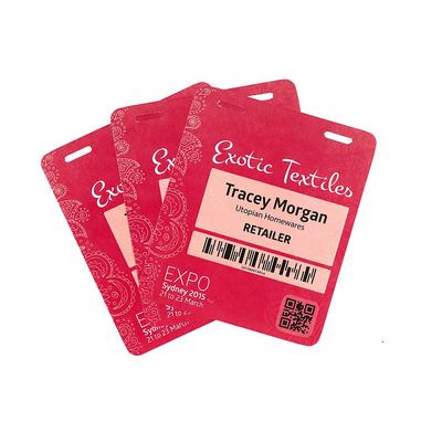 """Picture of Pocketless """"Never Tear Paper"""" Name Tags"""