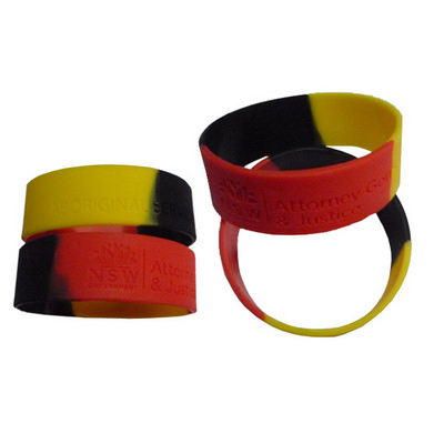 Picture of Silicone Wristband 25mm Wide Debossed