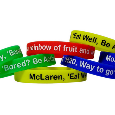 Picture of Silicone Wristband 12mm Printed