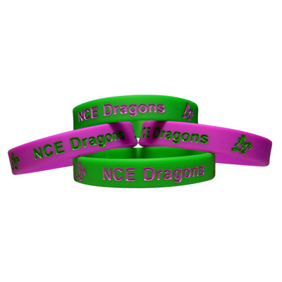 Picture of Silicone Wristband 12mm Debossed and Ink