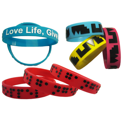 Picture of Silicone Wristband 12mm Embossed