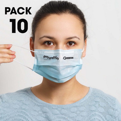 Picture of 10 Pack - Disposable Face Masks