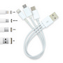 3 in 1 Combo USB Cable - Micro, 8 Pin, T