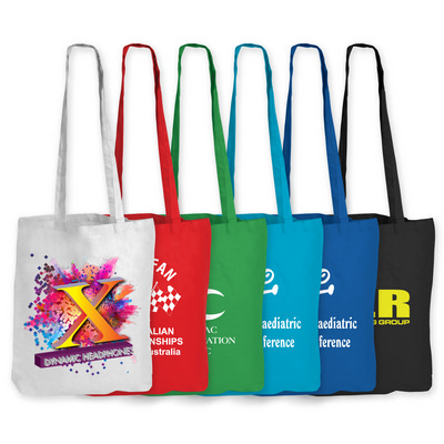 Picture of Coloured Cotton Long Handle Bag