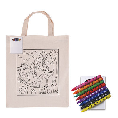 Picture of Colouring Short Handle Calico Bag & Cray