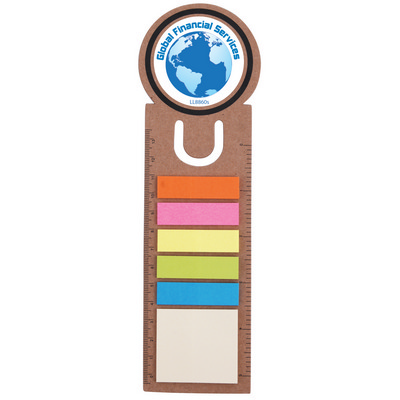 Picture of Circle Bookmark / Ruler with Noteflags