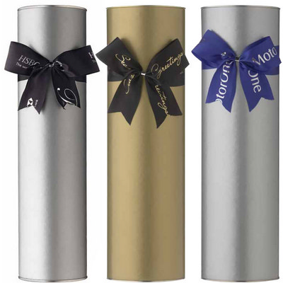 Picture of Wine Cylinders with Satin Bows
