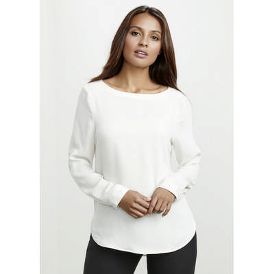 Picture of Ladies Madison Boatneck Blouse