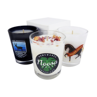 Picture of Votive Glass Candle Custom Label