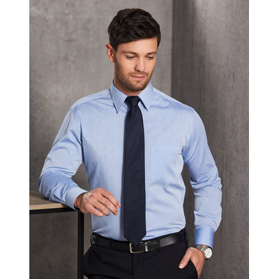 Picture of Mens Fine Chambray Long Sleeve Shirt