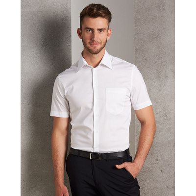 Picture of Mens CottonPoly Stretch Short Sleeve Shirt