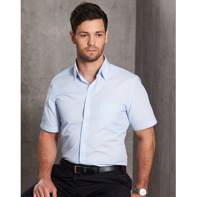 Picture of Mens Fine Stripe Short Sleeve Shirt