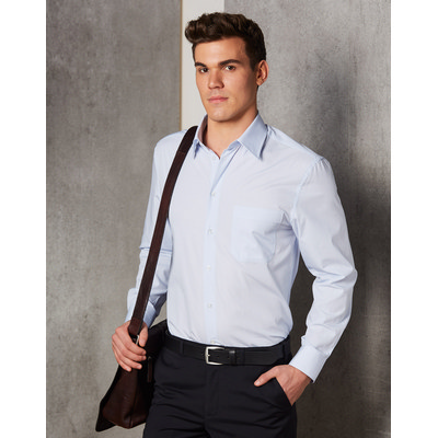 Picture of Mens Mini Check Long Sleeve Shirt