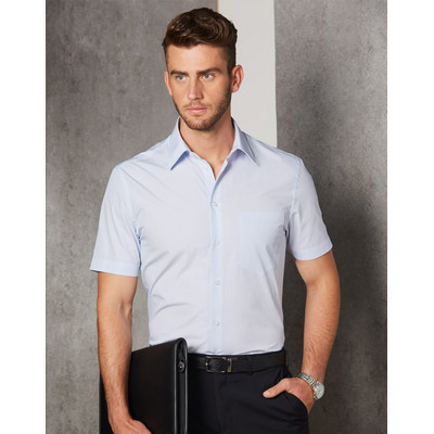 Picture of Mens Mini Check Short Sleeve Shirt