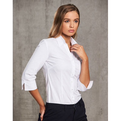 Picture of Women CottonPoly Stretch 34 Sleeve Shirt