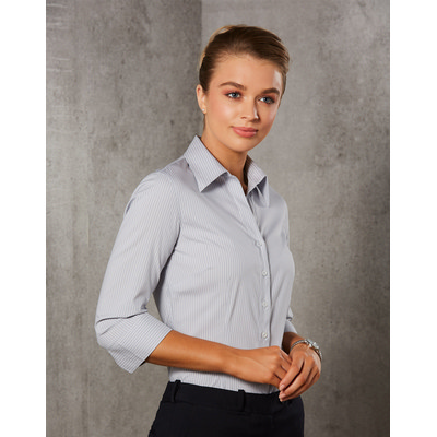 Picture of Women Ticking Stripe 34 Sleeve Shirt