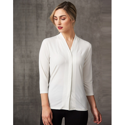 Picture of Ladies 34 Sleeve Stretch Knit Top Isabel