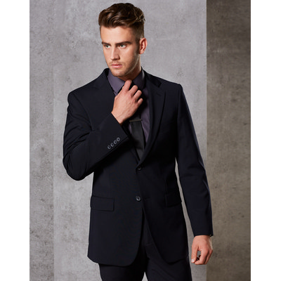 Picture of MenS Wool Blend Stretch Two Buttons Jacket