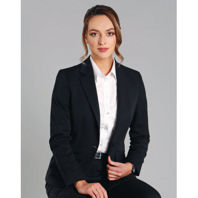 Picture of Ladies Wool Blend Stretch One Button Cropped Jacket