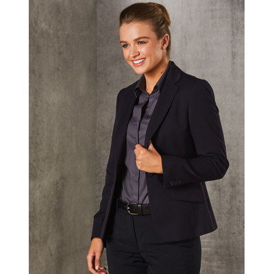 Picture of WomenS PolyViscose Stretch One Button Cropped Jacket