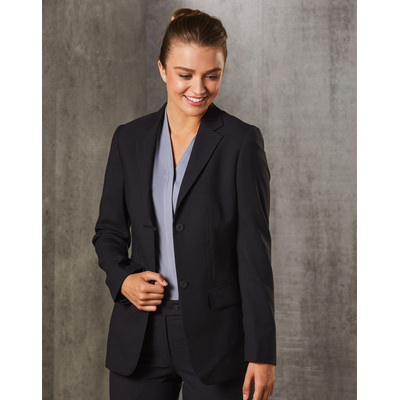 Picture of WomenS PolyViscose Stretch Two Buttons Mid Length Jacket