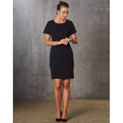 Picture of Ladies PolyViscose Stretch, Short Sleeve Dress