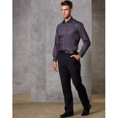 Picture of MenS Wool Blend Stretch Flexi Waist Pants