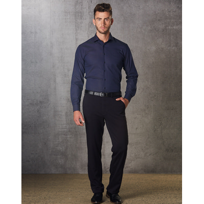 Picture of Mens PolyViscose Stretch Pants Flexi Waist