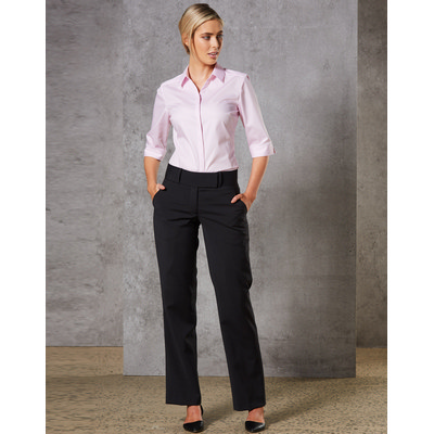 Picture of Women Wool Blend Stretch Low Rise Pants