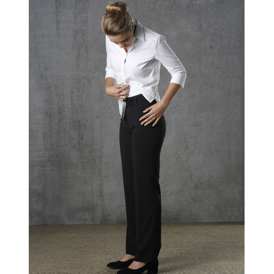 Picture of Women PolyViscose Stretch Stripe Low Rise Pants
