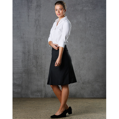 Picture of Women Wool Blend Strecth Pleated Skirt